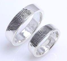 wedding bands with each other's fingerprints! Love this