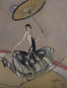 Jean-Gabriel Domergue (French 1889–1962) La danseuse du corde, 1925.