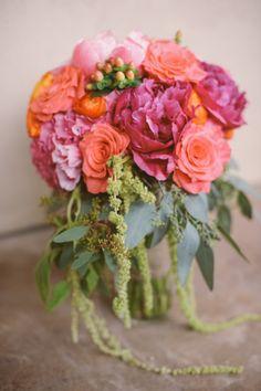 Peony and rose bouquet: http://www.stylemepretty.com/little-black-book-blog/2014/10/21/rustic-bohemian-colorado-rocky-mountain-wedding/   Photography: KJ & Rob - http://www.kjandrob.com/