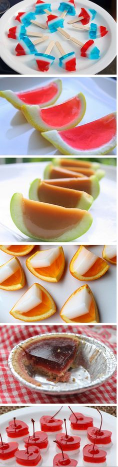 http://thecakebar.tumblr.com/post/52147697621/summertime-jello-shots-some-of-these-ive #summer #jello #shots #alcohol