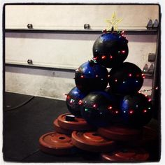 Deck the Wall Balls CrossFit Christmas Tree