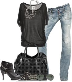 nice outfit, jean, rock and roll outfits, style, fall fashion, rock and roll fashion, shoe, rocker chic