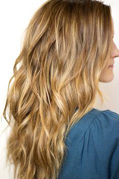 wavy hair tutorial beach waves, hair tutorials, hair colors, the wave, wavy hair, long hair, curl, hair looks, makeup contouring