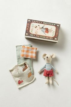Big Brother In A Box by Maileg via anthropologie #Toys #Doll #Mouse