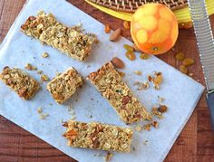 Almond Orange Granola Bars with Coconut and Honey Healthy homemade recipe {Friends First with The Law Students Wife} Orange Almond Granola B...