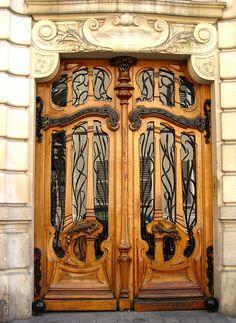 Parisian Art Nouveau door.