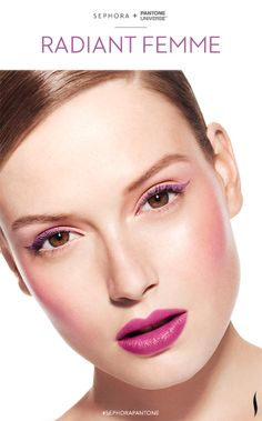 Let #RadiantOrchid inspire your beauty in 2014. Look created with the #Sephora @PANTONE COLOR COLOR Collection. #howto #makeuptutorial #SephoraPantone