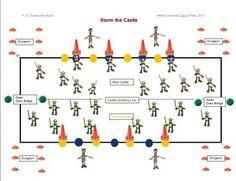 """PE GAMES THAT ROCK! - """"STORM THE CASTLE"""" - TeachersPayTeachers.com"""