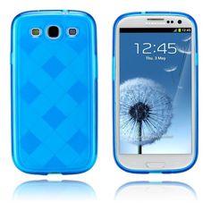 Grid (Sininen) Samsung Galaxy S3 Suojakotelo