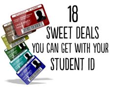 18 Sweet Deals You Can Get With Your Student ID Colleges Life, Student Deals, College Students, 18 Sweets, Sweets Deals, College Student Discount, Student Discounts, Student Id Discounts, Life Hacks