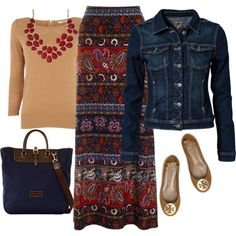 Aztec Maxi Skirt Outfit ... love everything about this one