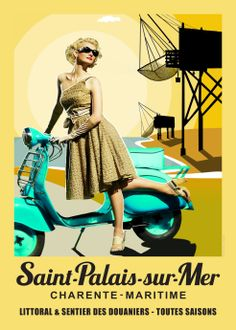 Esprit vintage saint palais sur mer on pinterest vespa scooters france and campers - Office de tourisme saint palais sur mer ...