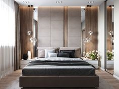 Hotel bedroom decor always needs a luxurious suspension lamp. Discover more luxurious interior design details at brabbucontract.com #brabbu #brabbucontract #bedroomdecor #bedroomideas #hotelbedroomideas #debroomtips #bedboominteriordesign #hoteldecoration #hotelbedroominspiration