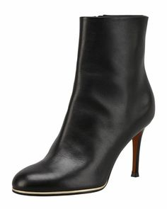 Leather Golden-Midsole Ankle Boot by Givenchy at Bergdorf Goodman.