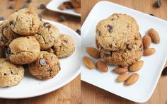 almond choco chip cookies