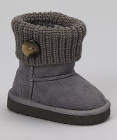 Gray Knit Bootie//