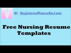 How to Create a Nursing Resume Templates | Free Resume Templates for Nurses