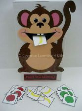 FEED THE MONKEY Activity - Autism Speech ABA Therapy PECS