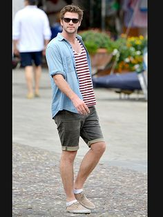 Liam Hemsworth stays casual as he explores the beautiful town of Portofino, Italy, on Thursday.