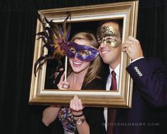 Mardi Gras themed photo booth
