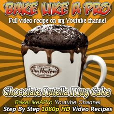 Nutella Mug cake recipe !  Awesome chocolate Nutella mug cake in the microwave ! Please SUBSCRIBE: http://bit.ly/1ucapVH  You won't believe how good this Nutella cake is until you try it !  Just 2-1/2 minutes in your microwave oven is all you need.  My Facebook Page: http://www.facebook.com/BakeLikeAPro My Twitter: http://twitter.com/BakeLikeAPro http://instagram.com/bakelikeapro  Please subscribe, like and share if you can, I do appreciate it. http://bit.ly/1ucapVH  #nutella #recipe #cake