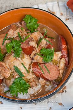 ArtandtheKitchen: Chicken Sausage Gumbo - a taste of the south with this Louisiana inspired gumbo.