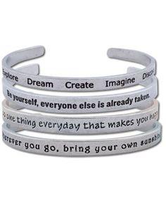 SoulFlower-Kept Quotes Bracelet-$16.00 #everydaybliss