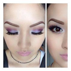 Purple eye makeup.  Colors used: Infatuated, Glamorous, and Innocent.  #smokeyeye #eyeshadow #makeup #makeuptips #purpleeyeshadow