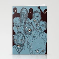 Everyone you know is dead Stationery Cards by Hatrobot - $12.00