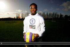 Right To Play Athlete Ambassador, Chelsea FC midfielder & Ghanaian international Michael Essien in a FA Barclays Premiership feature