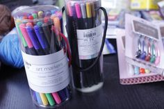Travel with color pencils, markers and gel pens to help keep kids busy and entertained.