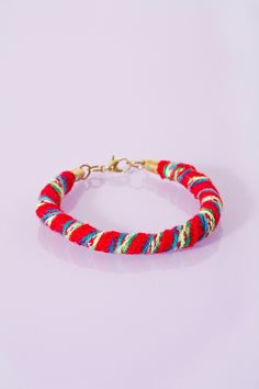 Roped Bracelet in Red