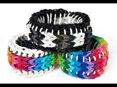 ▶ Rainbow Loom Sailors Pinstripe Tutorial - How to make a Reversible Glow Pin Bracelet - YouTube
