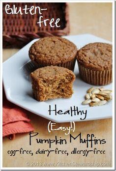 Easy Gluten-free One-Bowl Pumpkin Muffins (Gluten Free)