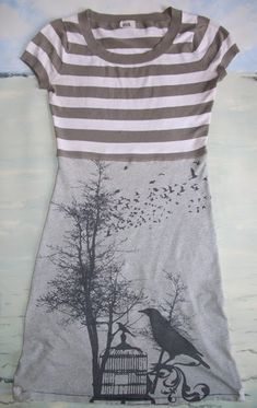 sew, refashion coop, diyrefashion cloth, tshirt refashion, dresses, teedress, craft idea, tee dress, teeshirt