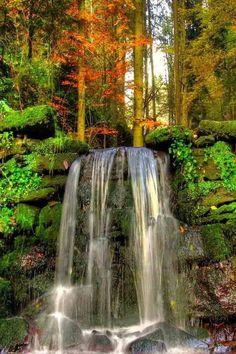Autumn Waterfall, North Carolina