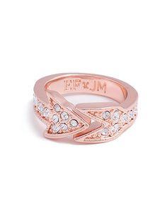 arrow ring, fashion, arrows, cupid arrow, style, accessori, erin fetherston, jewelmint, jewelri
