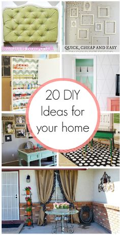 20 DIY Home Decor Ideas - these ideas are rocking my world!  My homes to-do list just got bigger!  This list is totally worth a look!