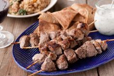 """Yogurt Marinated Lamb Kebabs with Tzatziki"" from @Gaby Dalkin"