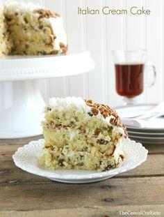Italian Cream Cake... Delish! #thepartybunchfavorites