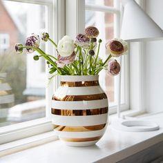 product, window, kähler omaggio, omaggio vase, jubilæum vase, mess, live room, omaggio jubilæum, golden dream