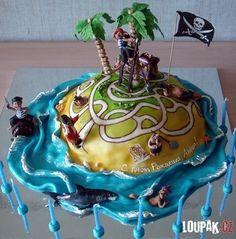 Cómica tarta de piratas. Tartas originales.
