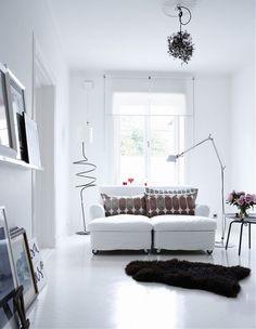 scandinavian beautiful seat and modern lights
