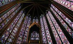 Sainte-Chapelle interior from newspaper