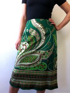 Skirt Small Italian Psychedelic Very Pucci  60s by coastalhighway, $37.00