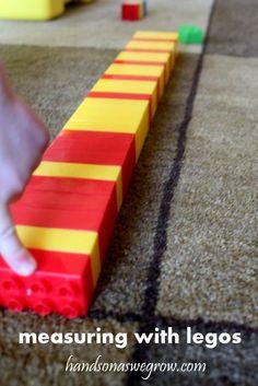 measuring with legos!