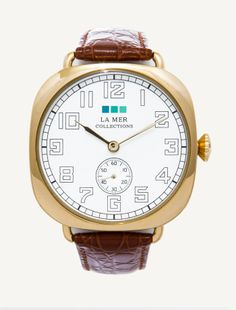 La Mer Watches: Exclusive Brown Gold Vintage Oversize Watch