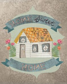 Home sweet home 8x10 print by yellowbuttonstudio on Etsy, $20.00