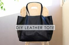 Easy Leather Tote Bag - Free Sewing Tutorial & Lapped Seams  | PatternPile.com