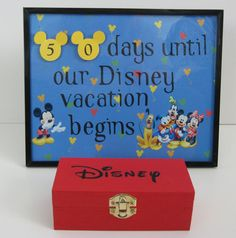 Decor - Disney vacation countdown. From Etsy but I can probably make myself. Box contains cut-outs of day number to change out.